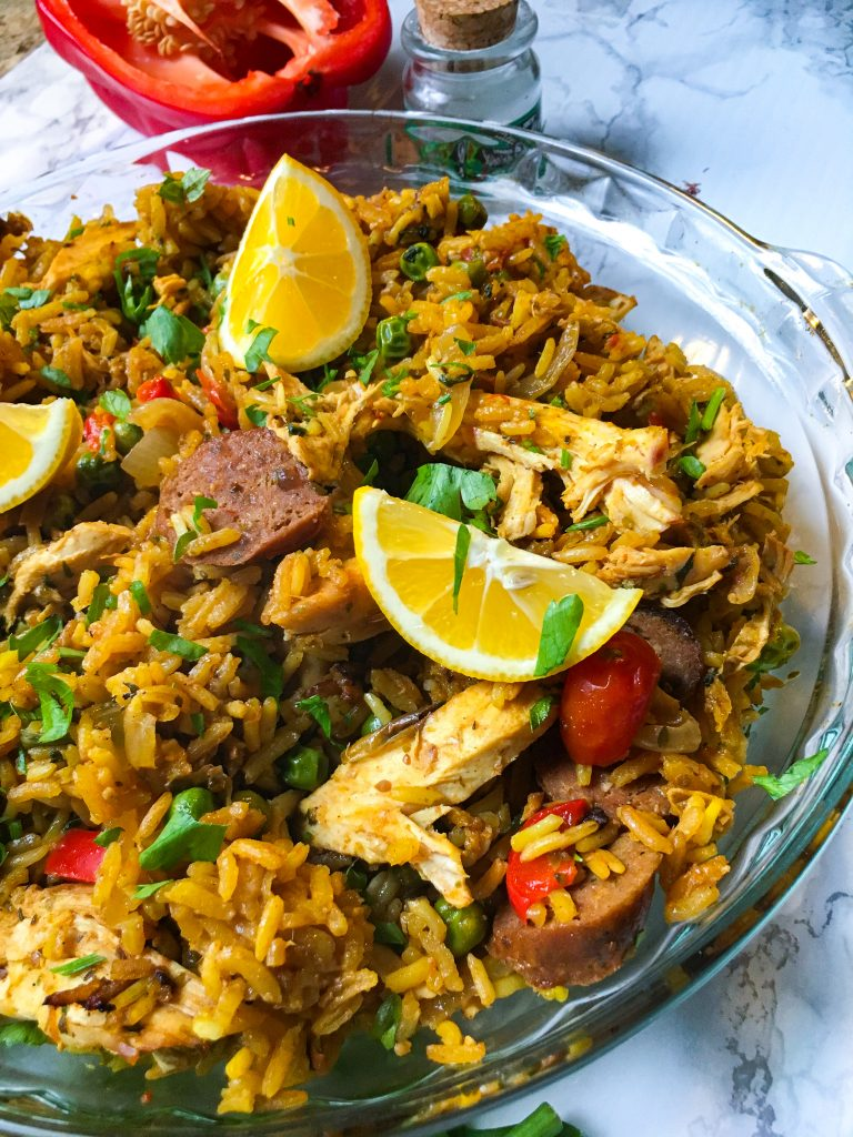 Chicken and Beef Paella