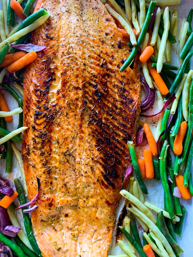 Sheet Pan Rosemary Maple Salmon