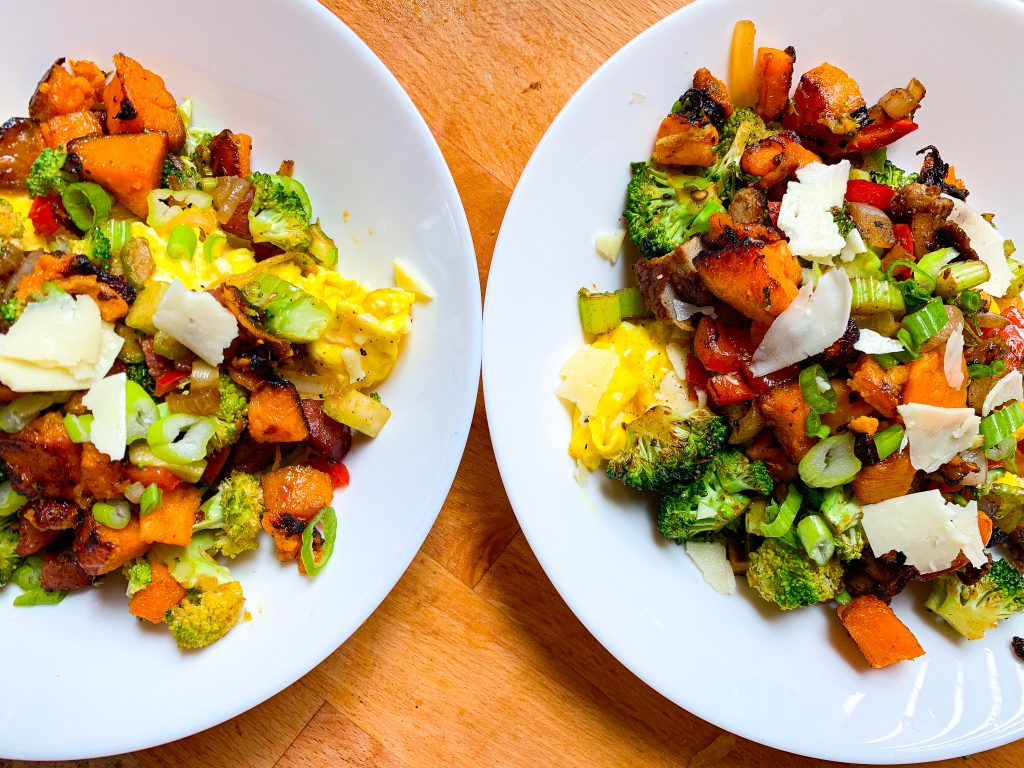 Mixed Vegetable and Sausage Scramble