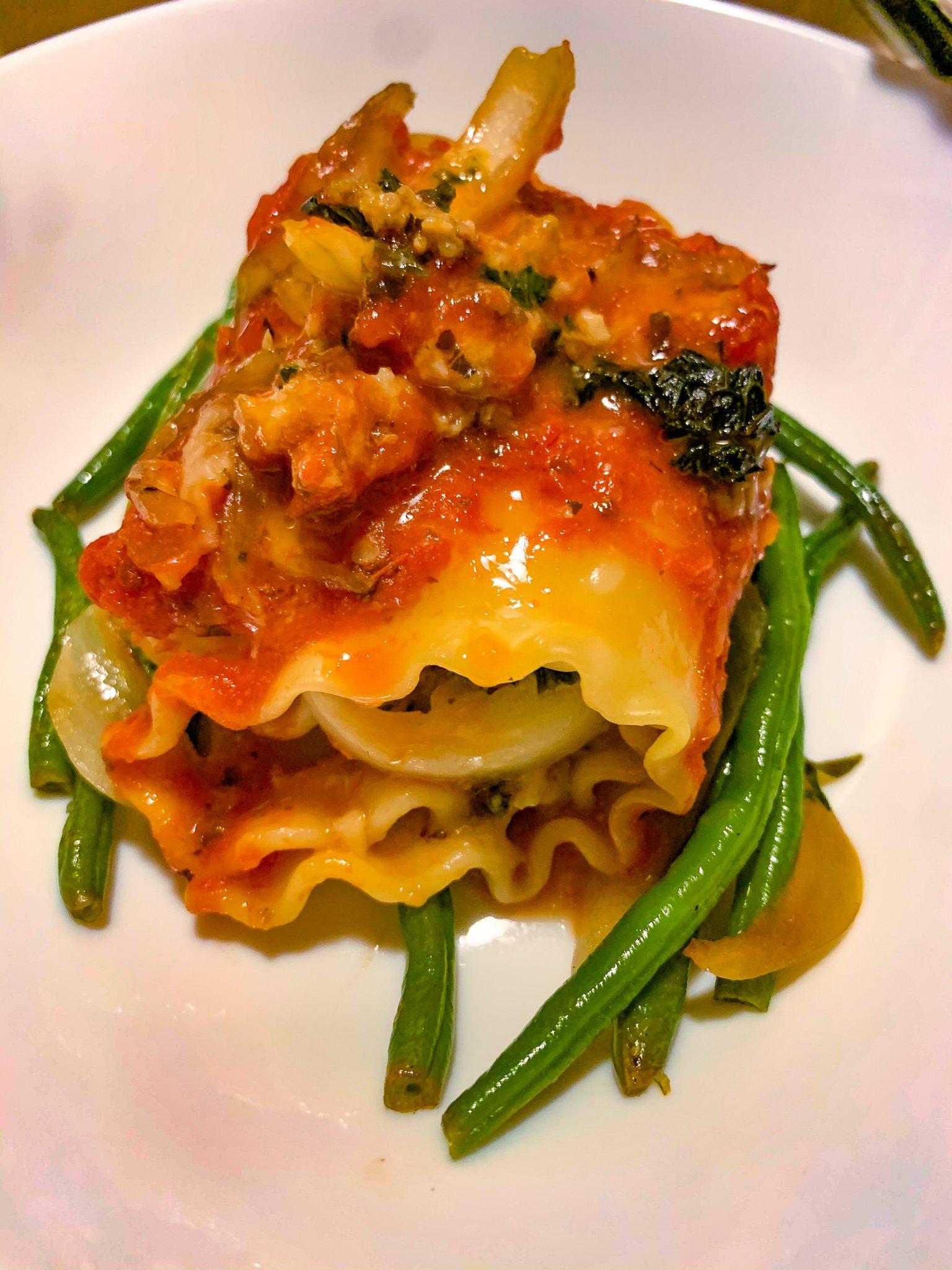Chicken & Vegetable Lasagna Rolls